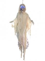 Wit skelet ophangdecoratie met licht