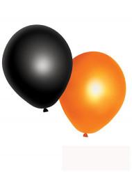 10 zwarte en oranje Halloween ballonnen