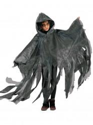 Witte en zwarte Halloweencape voor kinderen