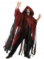 Rode en zwarte Halloweencape voor volwassenen