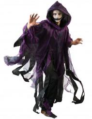 Paarse en zwarte duistere cape voor volwassenen