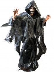 Zwarte en witte cape voor volwassenen