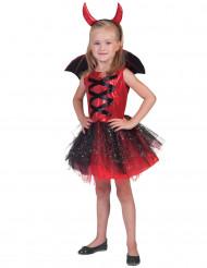 Duivelskostuum met vleugels voor meisjes
