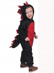 Zwart en rood drakenkostuum