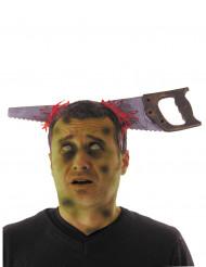 Halloween haarband met zaag voor volwassenen
