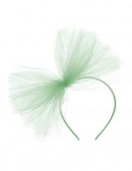 Mint groene haarband met tule voor dames