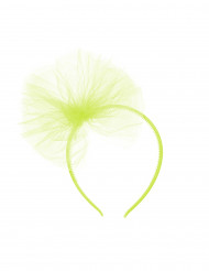 Haarband met groene tule strik