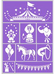 Circus make-up stencil