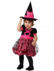 Roze heksen kostuum voor baby