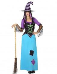 Patched heksen kostuum voor vrouwen