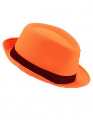 Oranje borsalino hoed voor volwassenen