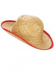 Cowboy hoed met rode rand