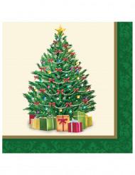 Papieren servetten kerstboom