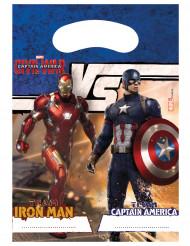 6 Cadeau tasjes van Avengers Civil War™