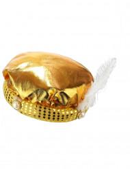 Goudkleurige sultan tulband voor volwassenen