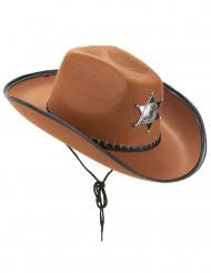 Bruine Sherif hoed voor volwassenen