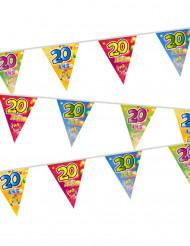 Plastic 20 jaar vlaggenslinger