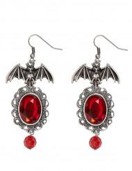 Rode gothic vleermuis oorbellen voor vrouwen