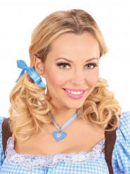 Beierse blauwe ketting met hart voor vrouwen
