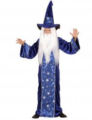 Blauw sterren tovenaarskostuum voor kinderen