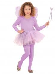 Paarse feeën prinses kostuum voor kinderen