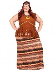Lang hippie kostuum voor vrouwen
