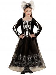 Skeletkostuum met lange rok voor meisjes