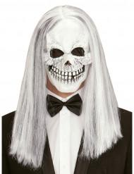 Skeletten masker met pruik voor volwassenen