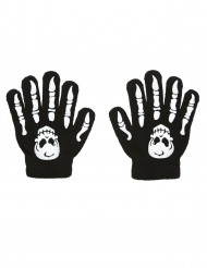 Schedel en botten handschoenen voor kinderen