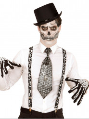 Zwarte bretels met kruizen voor volwassenen