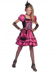 Roze en zwart cabaretkostuum voor meisjes