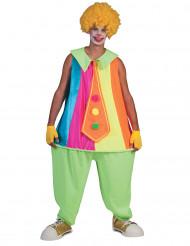 Bolle clown kostuum voor volwassenen