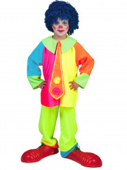 Fluo clownskostuum voor jongens