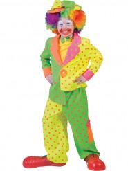 Clownskostuum met stippen voor jongens