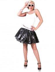 Zwarte lovertjes disco rok voor vrouwen