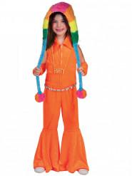 Fluo oranje discokostuum voor meisjes