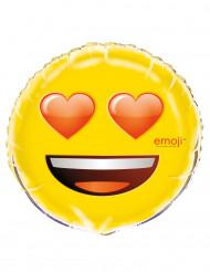 Aluminium verliefd Emoji™ ballon