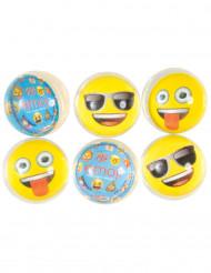 6 Emoji™ stuiterballen