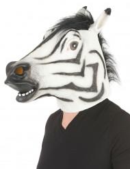 Zebra latex masker voor volwassenen