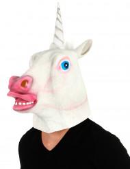 Latex eenhoorn masker voor volwassenen