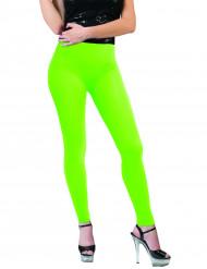 Fluo groene legging voor volwassenen