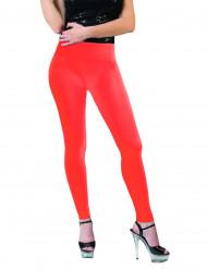Fluo oranje legging voor volwassenen