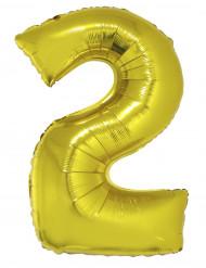 Goudkleurige nummer 2 ballon
