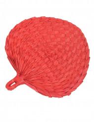 Rode waaier van stro voor volwassenen