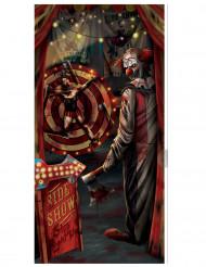 Halloween clown deurdecoratie