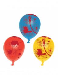 6 bloederige latex ballonnen