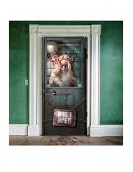 Bloederig gekkenhuis deurdecoratie