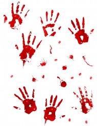 Bloedvlekken en bloederige handafdrukken muur stickers