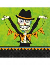 16 papieren Día de los Muertos servetten