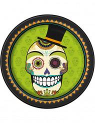 8 kartonnen Día de los Muertos borden